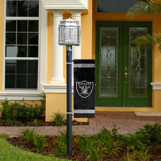 Oakland Raiders Flag : Oakland Raiders Applique Post Flag