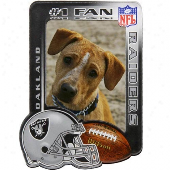 Oakland Raiders Profoundly Definition Magnetic Photo Frame