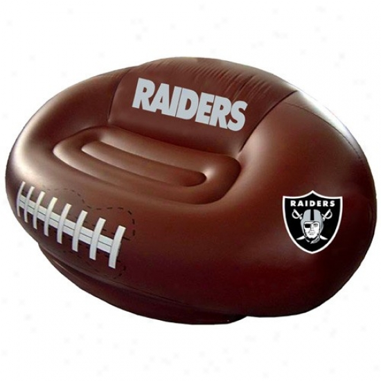 Oakland Raiders Inflatable Football Sofa