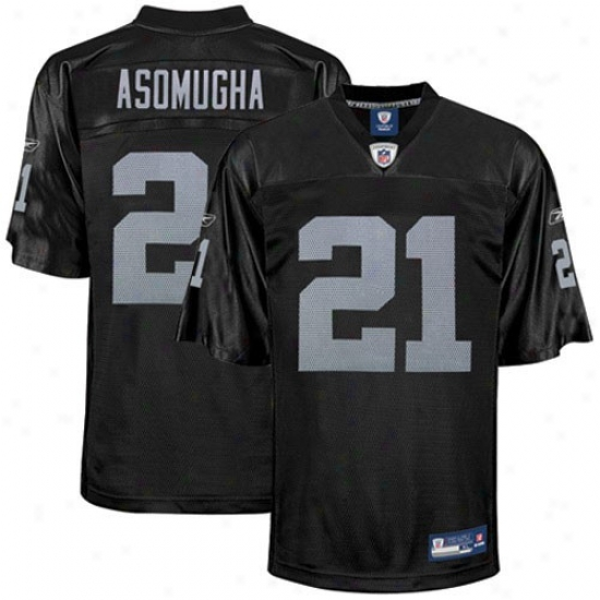 Oakland Raiders Jerseys : Reebok Nfl Equipment Oakland Raiders #21 Nnamdi Asomugha Black Replica Football Jerseys