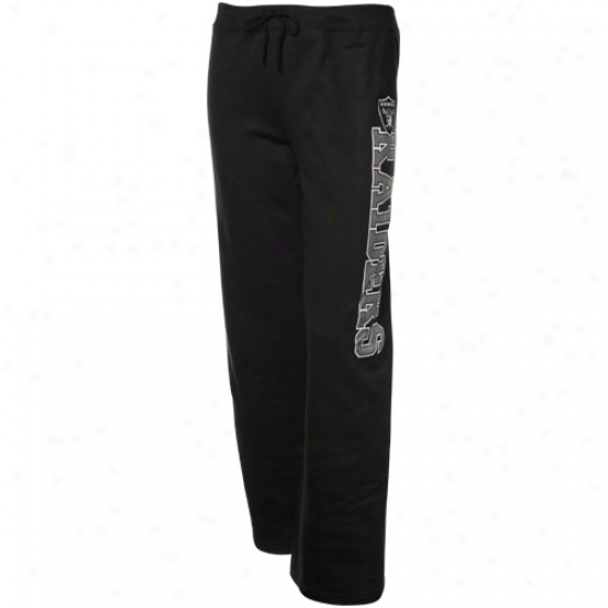 Oakland Raiders Ladies Black Lateral Spirit Loungee Pants