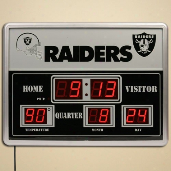 Oakland Raiders Led Scoreboaard Clock