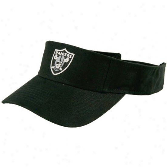 Oakland Raiders Merchandise: Reebok Oakland Raiders Black Original Visor