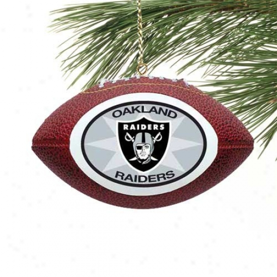 Oakland Raiders Mini Football Ornament