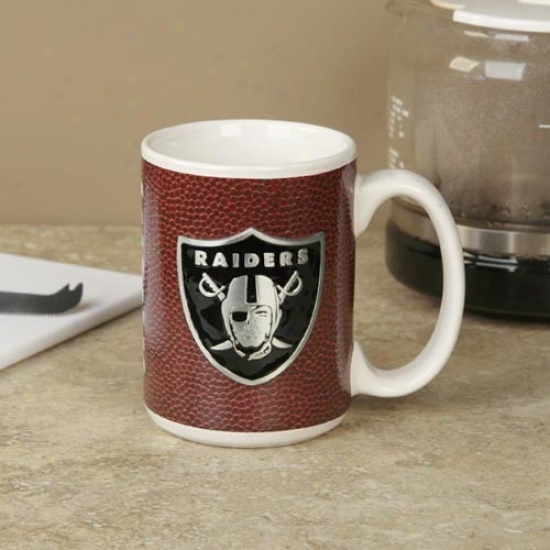 Oakland Raideers Pewter Logo Football Coffee Mug