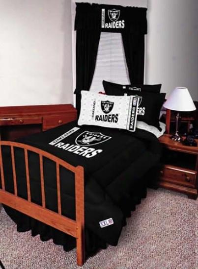 Oakland Raiders Queen Size Bed Skirt