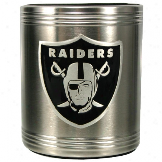 Oakland Raiders Stainless Steel Can Cooler