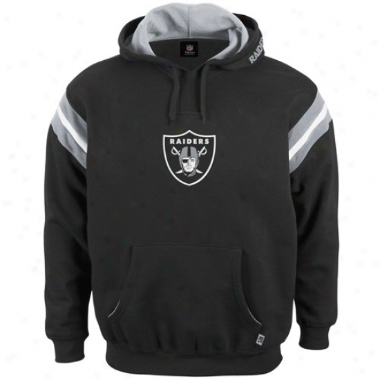 Oakland Raidwrs Stuff: Oakland Raiders Black Pumped Up Hoofy Sweatshirt
