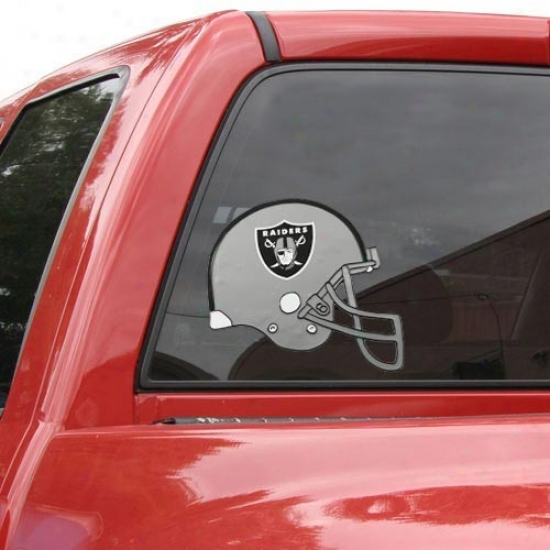 """oakland Raiders Team Helmet 12"""" Window Cling"""