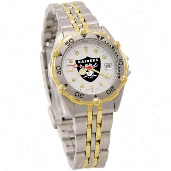 Oakland Raiders Watch : Oakland Raiders Ladies All-star Watch W/stainless Steel Band