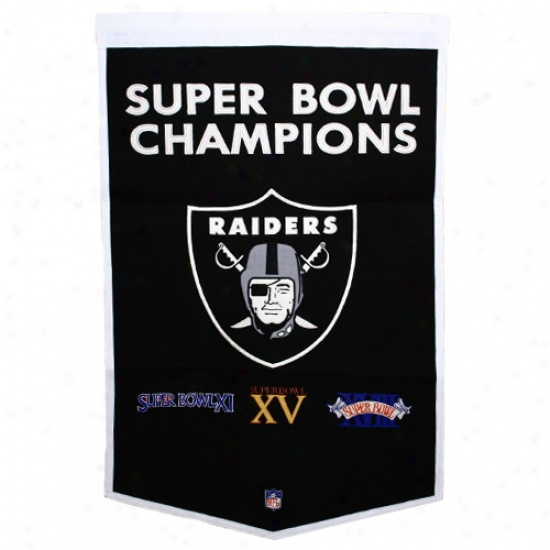 Oakland Raiders Wool Dynasty Banner