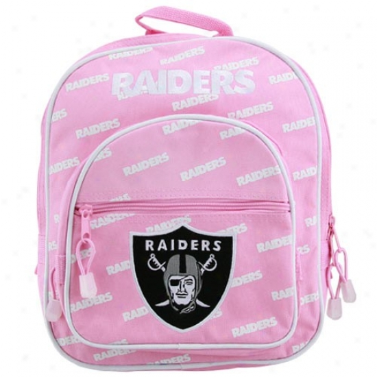 Oakland Raiders Youth Girls Pink Ewok Backpack
