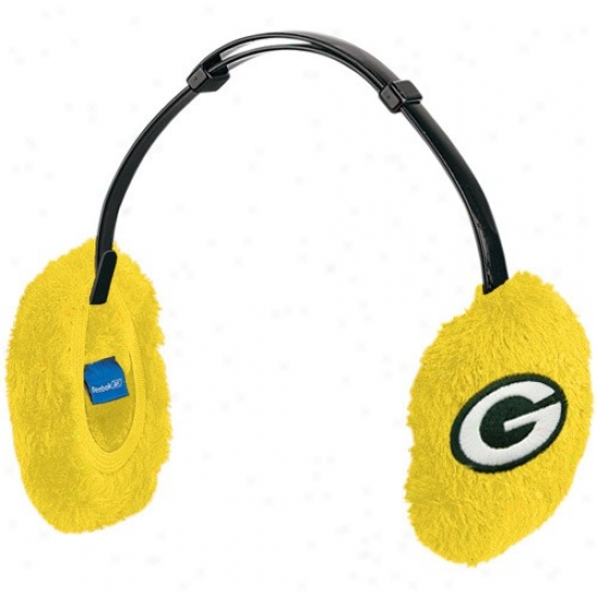 Packers Gearing: Reebok Packers Ladies Gold Basic Logo Ear Muffs