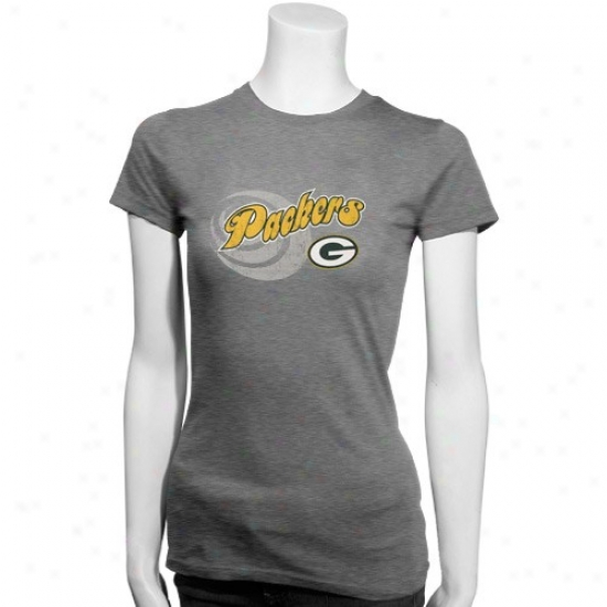 Packers Shirt : Packers Ladies Ash Tri-blend Shirt