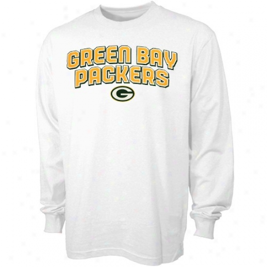 Packers Tee : Reebok Packers Happy Double Arched A ~ time Sleeve Tee