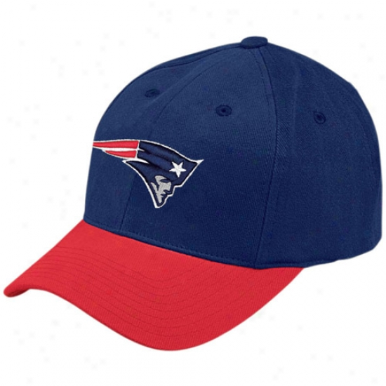 Patriots Cap : Reebok Patriots Navy Blue Youth Basic Logo Cap