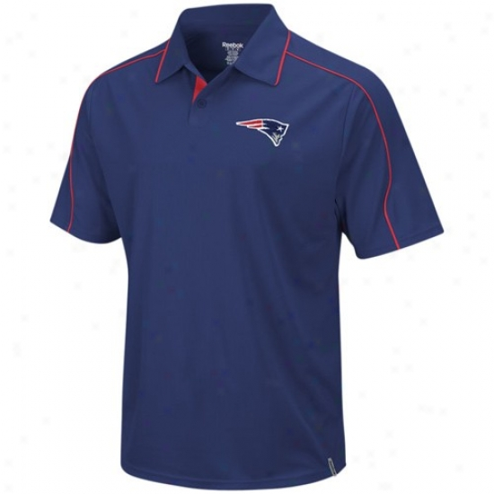 Patriots Clothing: Reebok Patriots Navy Blue Drastic Polo