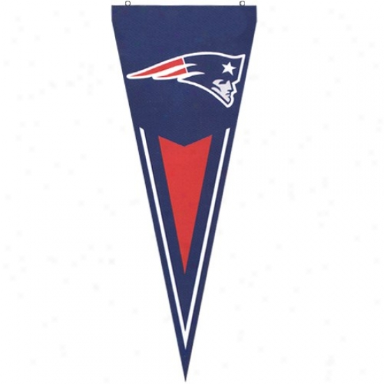 Patriots Flags:  Patriots Navy Blue Premium Quality Pennant