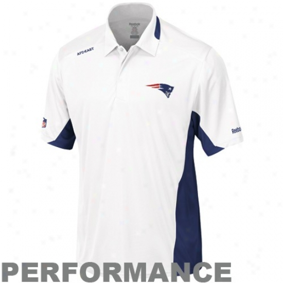 Patriots Golf Shirt : Reebok Patriots Pure Clutch Sideline Performance Golf Shirt