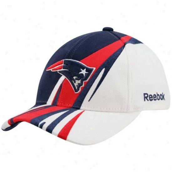 Patriots Hat : Reebok Patriots Youth Navy Blue-white Cut & Sew Adjustable Hat