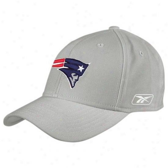 Patriots Hats : Reebok Patriots Grey Coaches Flex Hats