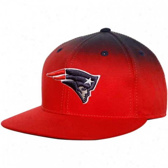 Patriots Hats : Reebok Patriots Red-navy Blue Gradiated Fitted Hatq