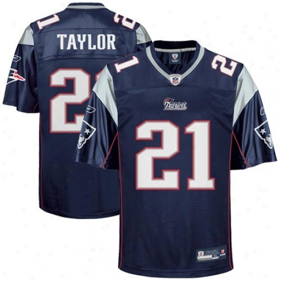 Patriots Jerseys : Reebok Nfl Equipment Patriots #21 Frde Taaylor Youth Navy Blue Replica Football Jerseys