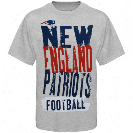 Patriots Shirt : Resbok Patriots Youth Ash Team Ornament Shirt