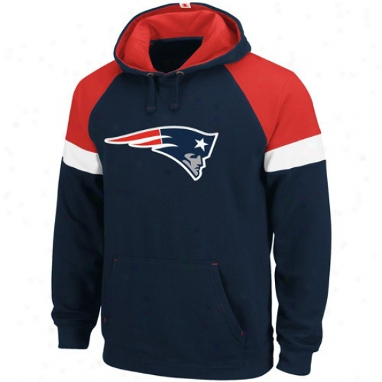 Patriots Sweatshirts : Patriots Navy Blue Passing Game Sweatshirts