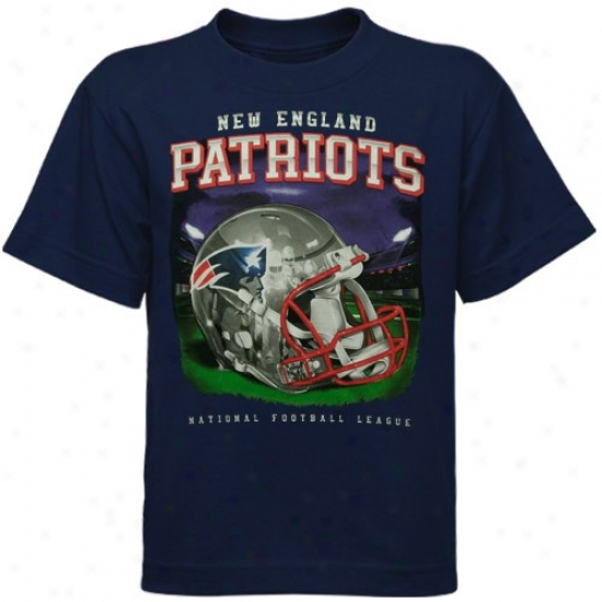Patriots T-shjrt : Reebok Patriots Preschool Navy Blue Refflection Eternal T-shirt