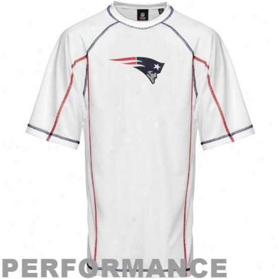 Patriots Tshirts : Patriots White Swim Top Performance Tshirts