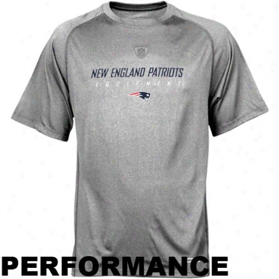 Patriots Tshirts : Reebok Nfl Equipment Patriots Ash Equipspeed Performance Tshirts