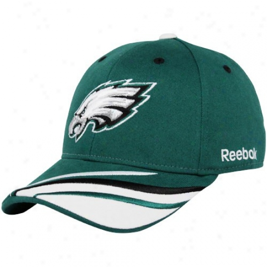 Philadephia Eagle Caps : Reebok Philadelphia Eagle Green Collage Adjustable Caps