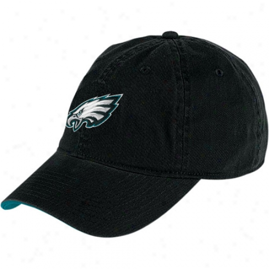 Philadelphia Eagle Gear: Reebok Philadelphia Eagle Black Basic Logo Hat