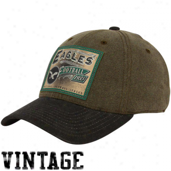 Philadelphia Eagle Gear: Reebok Phikadelphia Eagle Brown Pro Shape Flex Hat