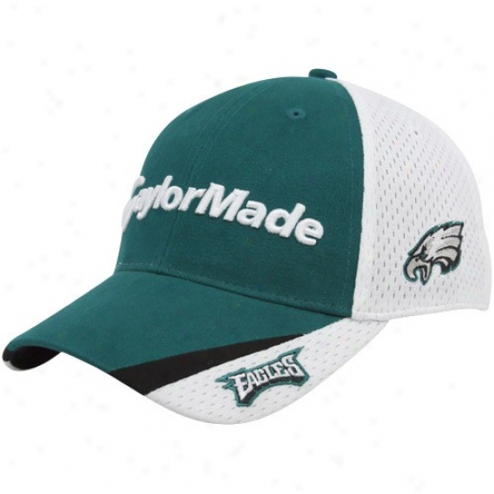 Philadelphia Eagle Hat : Taylormade Philadelphia Eagle Green-white 2010 Nfl Golf Adjustabld Hat