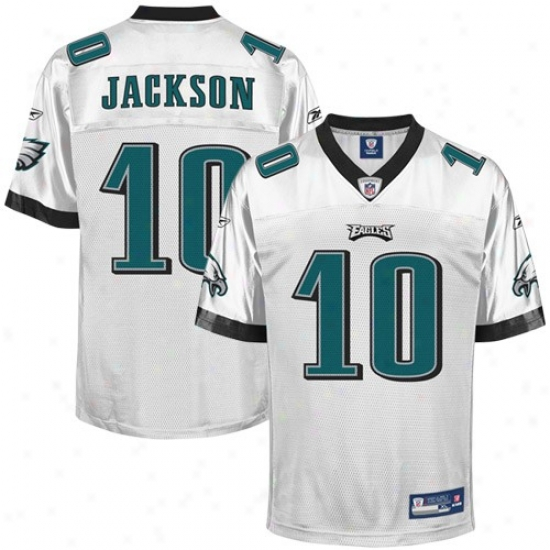Philadelphia Eagle Jerseys : Reebok Philadelphia Eagle #10 Desean Jackson White Replica Football Jerseys