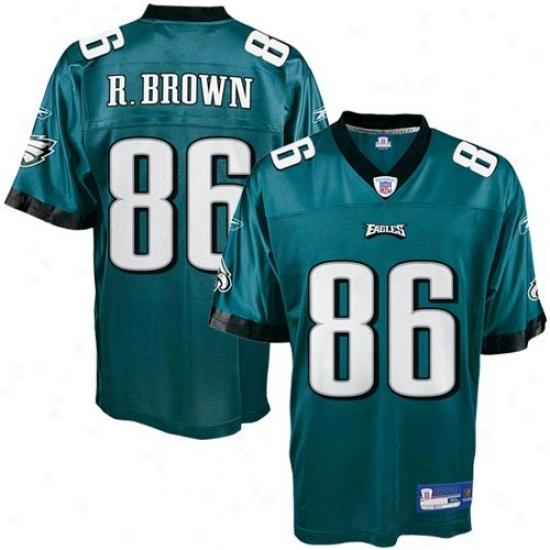 Philadelphia Eagle Jerseys : Reebok Philadelphia Eagle #86 Reggie Brown Green Replica Football Jerseys