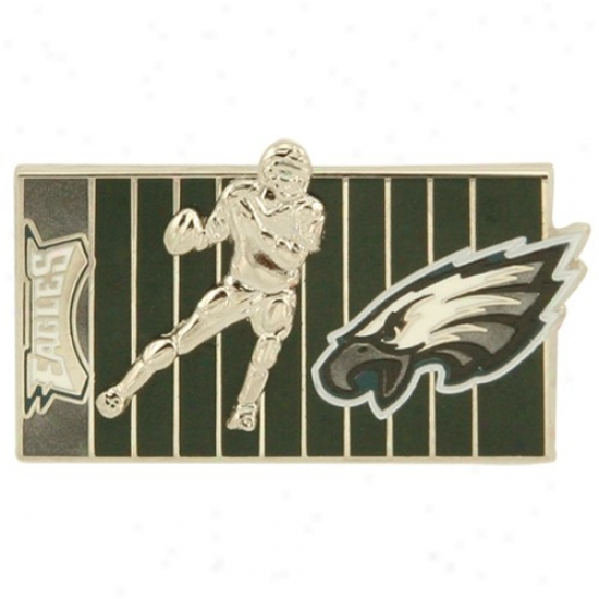 Philadelphia Eagle Merchandise: Philadelphia Eagle 3d Football Player On The Field Pin