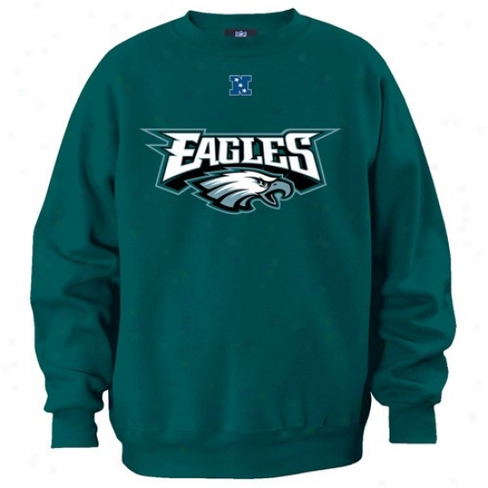 Philadelphia Eagle Sweat Shirt : Pihladelphia Eagle Green Critical Victory Iii Crew Sweat Shirt