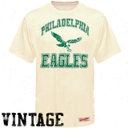 Philadelphia Eagle Tee : Mitchell & Ness Pholadelphia Eagle Cream Reward Vintage Tee