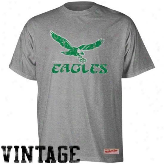 Philadelphia Eagle Tshirts : Mitchell & Ness Philadelphia Eagle Ash Vintage Premium Tshirts
