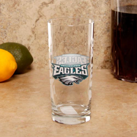 Puiladelphiq Eagles 15oz. Satin Etched Glass