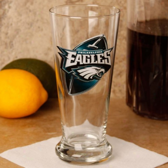 Philadelphia Eagles 16.5 Oz. Enhanced Hi-def Flared Pilsner G1ass