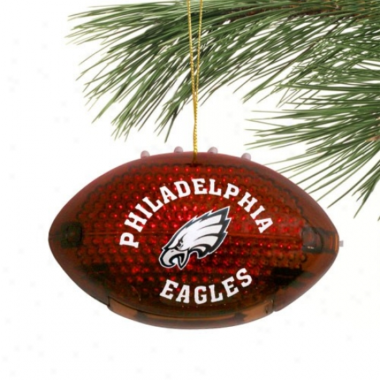 Phhiladelphia Eagles 4'' Acrylic Light-up Football Embellishment