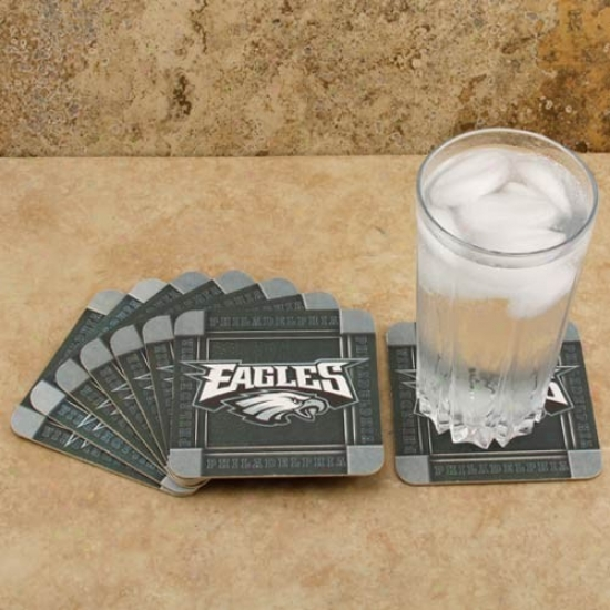Philadelphia Eagles 8-pack Absorbent Paperkraft Coasters