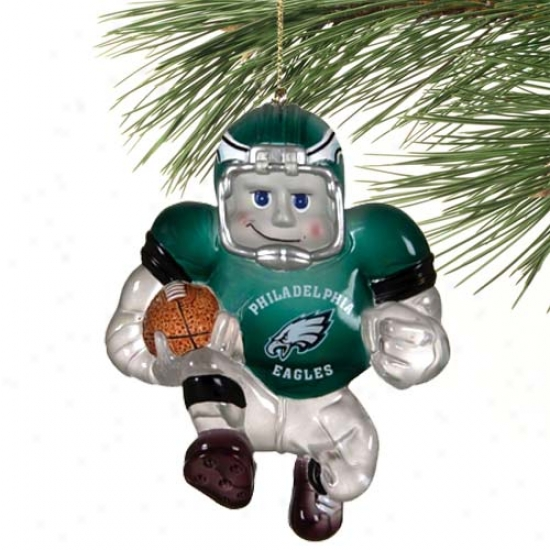 Philadelpia Eagles Acrylic Halfback Ornament