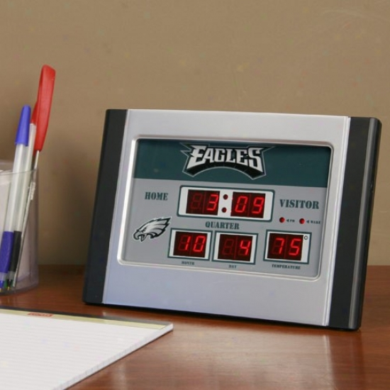 Philadelphia Eagles Alarm Scoreboard Clock
