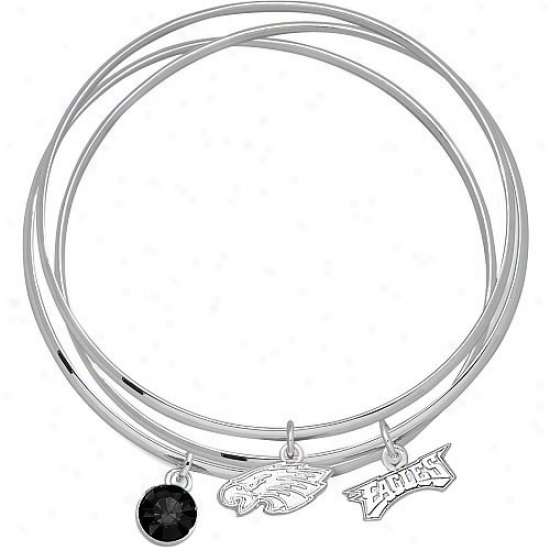 Philadelphia Eagles Bangle Bracelet Set