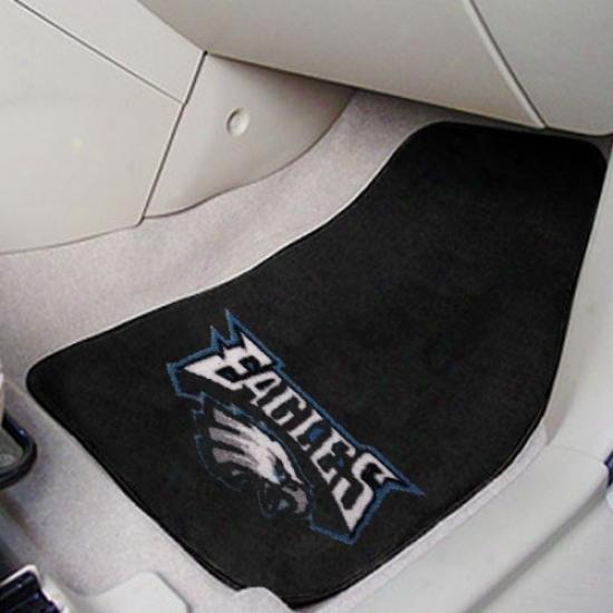 Philadelphia Eagles Black 2-piece Carpet Car Mat Set